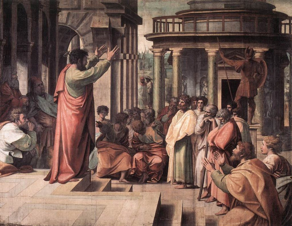 """St. Paul Preaching in Athens"" by Raphael, 1515"